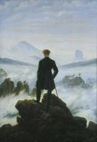 Der Wanderer über dem Nebelmeer. The Traveller over the Clouds Sea. Le voyageur au-dessus de la mer de nuages, ca. 1817