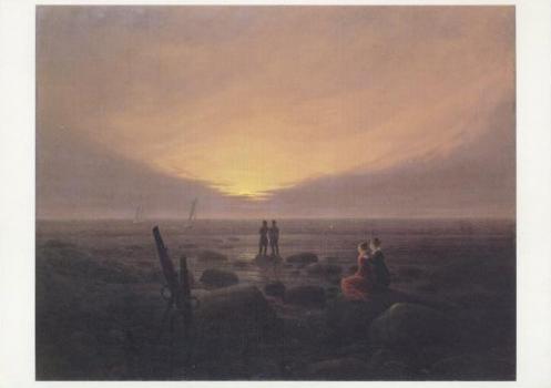 Mondaufgang am Meer, 1821