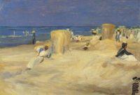 Am Strand von Noordwijk, 1908.