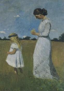 Paula Modersohn-Becker mit Elsbeth Modersohn, 1902