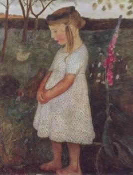 Elsbeth im Garten, 1902