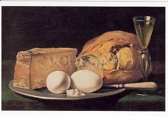 Stillleben mit Eiern. Still Life with Eggs. Nature morte aux oeufs.