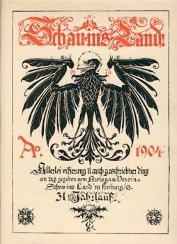 """Schau-in's-Land. Allerlei vißierung und auch geschriebner ding an tag gegeben vom Breisgau-Verein """"Schau-in's-Land"""". 31., 32. u. 33. Jahrlauf (3 Jahrgänge) in 1 Band."""