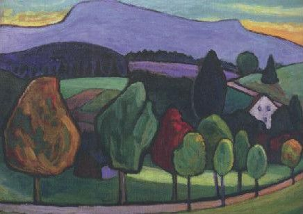 Landschaft mit blauem Berg, 1952