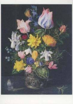 Stillleben mit Blumenstrauß. Flower Still-life. Nature morte aux fleurs.