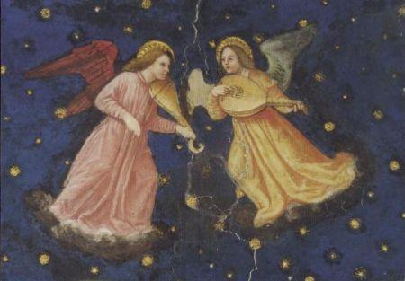 Zwei musizierende Engel (Ausschnitt)