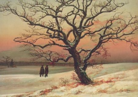 Die alte Eiche im Winter. The old oak in the winter, 1822