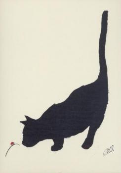 Katze und Marienkäfer. Cat and Ladybird. Le chat et la coccinelle, 2010