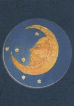 "Rosenkranzmedaillon ""Mond"""