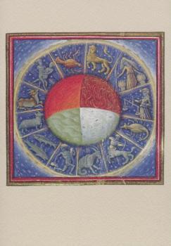 Die vier Elemente mit den zwölf Tierkreiszeichen, Französisch 1445-1450