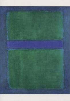 Ohne Titel (Grün und Blau). Untitled (Green and Blue). Sans titre (Vert et Bleu), 1957