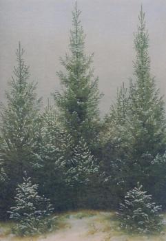 Fichtendickicht im Schnee, 1828
