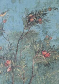 Baum mit Früchten und Vögeln