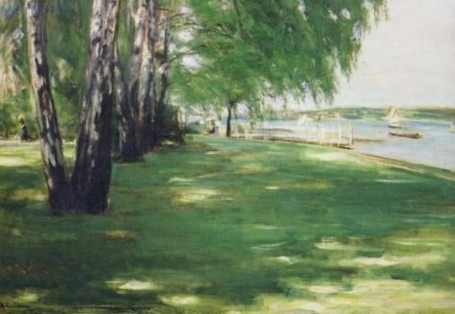 Der Garten des Künstlers in Wannsee, 1918