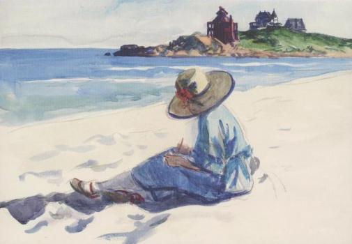 Jo, am Strand von Good Harbor zeichnend, 1923/1924